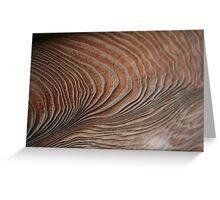Textured Wood in Kamakura Temple, Japan Greeting Card