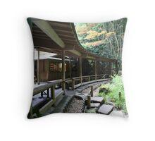 Traditional Japanese Tea Room in Kamakura Throw Pillow