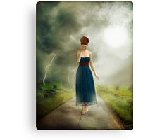 Between the clouds - depression Canvas Print