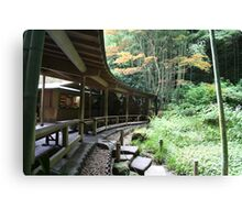 Autumn in Japan - Traditional Japanese Tea Room in Kamakura Canvas Print