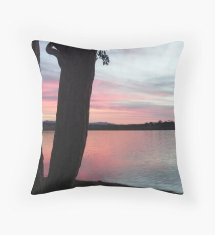 Black Fork Throw Pillow