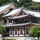Buddhist temple on the mountain slope, Kamakura, Japan by Bruno Beach