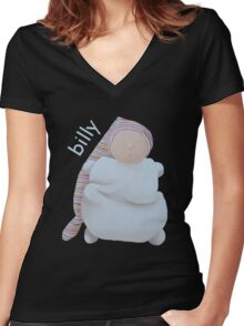 Billy Women's Fitted V-Neck T-Shirt