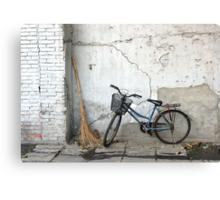 Broom and Bike Canvas Print