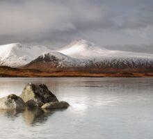 Frozen mountain landscape Sticker