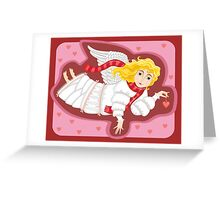 Card with an angel Greeting Card