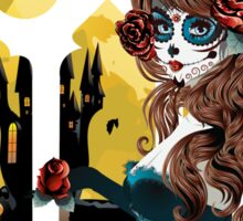Day of the Dead and Gothic window Sticker