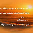 Rest in Peace my son by Susan Blevins