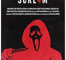 Scream 4 Minimal Poster Redesign by johnhayward
