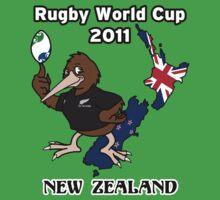 Rugby World Cup 2011 - All Blacks Kiwi One Piece - Short Sleeve