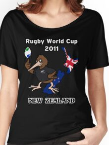 Rugby World Cup 2011 - All Blacks Kiwi Women's Relaxed Fit T-Shirt