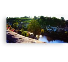 Tilt-shift panorama of Fresnay-sur-Sarthe Canvas Print