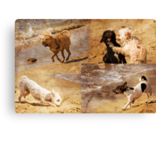 Dogs Running Wild Canvas Print