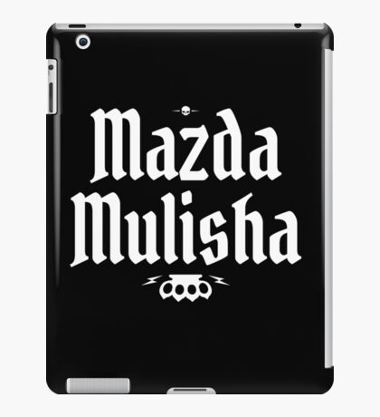 Mazda Mulisha iPad Case/Skin