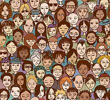 Colorful Little People by franzi