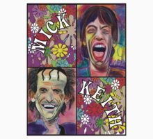 Pastel Portraits - Flower Power - Mick & Keith T Shirt T-Shirt