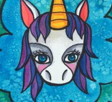 Stay Dreamy: Cute Unicorn Drawing Watercolor Illustration  Sticker