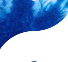 Ying Yang Symbol (Tie Dye Blue) Sticker