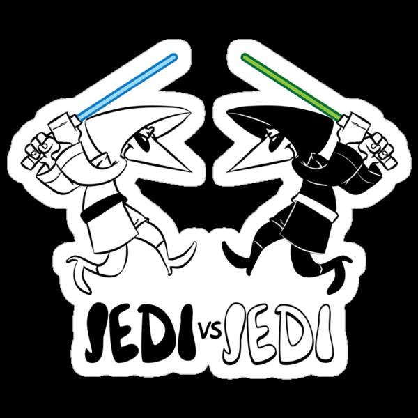 Jedi vs Jedi by nikholmes
