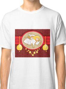 Christmas Card Angel Bell Classic T-Shirt