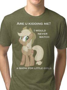 Applejack lies with Text Tri-blend T-Shirt