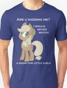 Applejack lies with Text T-Shirt