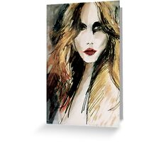 Red Lipstick Greeting Card