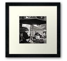 Winter Music, Salamanca Market, Hobart Framed Print