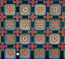 Ceiling, Tianning Si, Changzhou, Jiangsu by DaveLambert