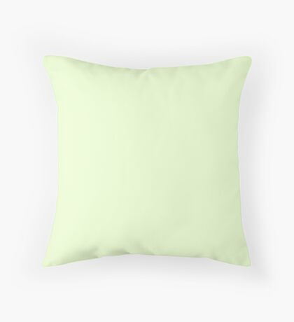 Soft Pale Celery Green Pastel Throw Pillow