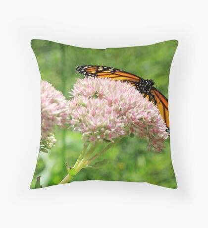 The Beauty Of A Monarch Throw Pillow
