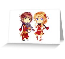 Chibi Hiccup and Astrid Greeting Card