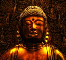 Buddha, Royal Museum Edinburgh Scotland by Den McKervey