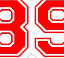 Taylor 89 Swift (Red) Sticker