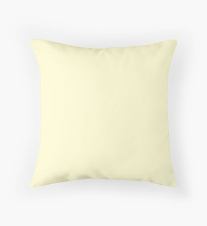 Pastel Lemon Yellow Pale Soft Meringue Yellow Throw Pillow