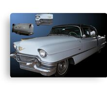 Moody Blue Cadillac Canvas Print