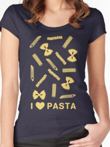 I love pasta paste species Women's Fitted Scoop T-Shirt