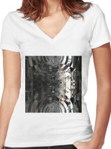 _SAM1090_GIMP Women's Fitted V-Neck T-Shirt