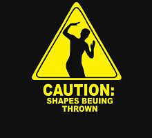CAUTION SHAPES BEING THROWN PRINTED T-Shirt