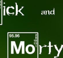 Rick and Morty Breaking Bad intro Sticker