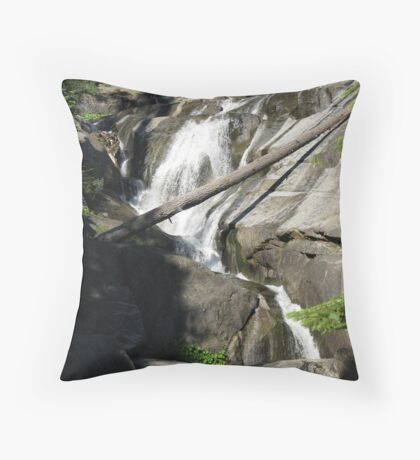 Bear Creek Falls III Throw Pillow