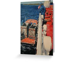 Loading horses off The Falkland Islands. Greeting Card