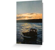 Loading off Sealion Island, Falkland Islands Greeting Card