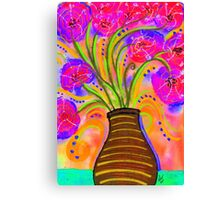Psychedelic Bouquet Canvas Print