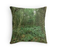 Entrance (to the woods) Throw Pillow