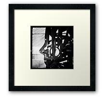 Black metal profile Framed Print