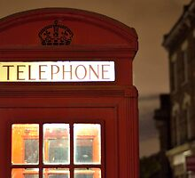 Red Phone box - London - England by FB Photography