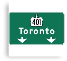 Toronto, Road Sign, Canada  Canvas Print