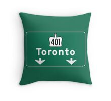 Toronto, Road Sign, Canada  Throw Pillow