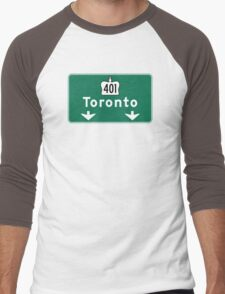 Toronto, Road Sign, Canada  Men's Baseball ¾ T-Shirt